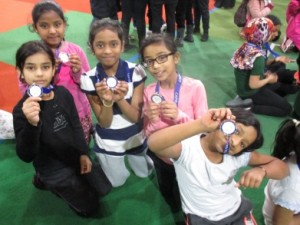 The girls received medals for all their hard work throughout the sports-filled day!